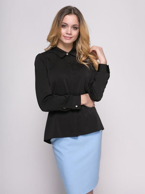 Рубашка черная Zubrytskaya 4817188