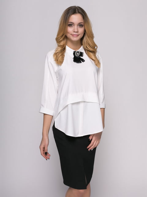 Блуза молочного цвета Zubrytskaya 4817185
