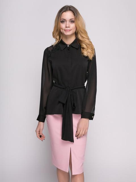 Рубашка черная Zubrytskaya 4817186