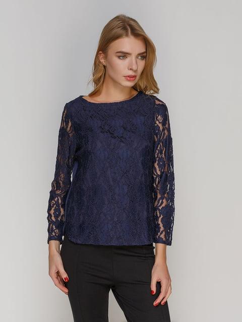 Блуза темно-синя H&M 4808569