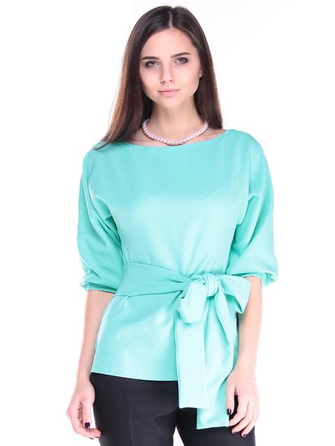 Блуза ментолового цвета Laura Bettini 4807594