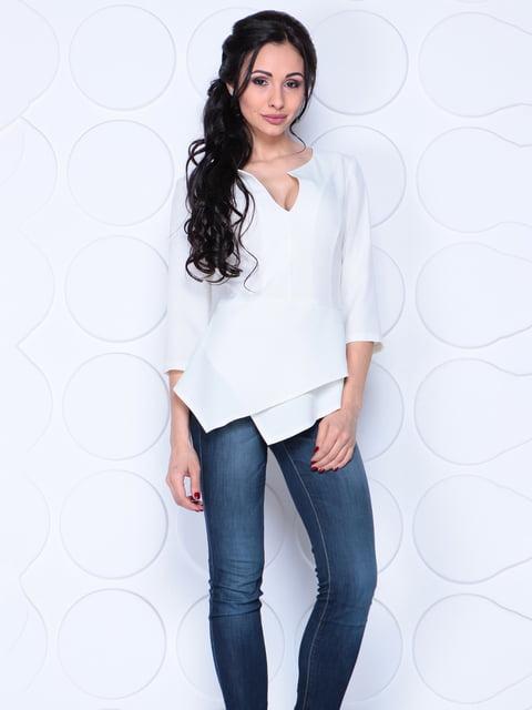 Блуза молочного цвета Laura Bettini 4807628