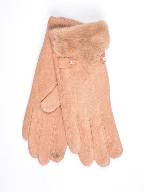 Перчатки сенсорные бежевые Fashion Look 4821768