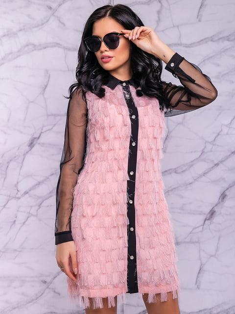 Сукня рожево-чорна Seventeen 4822886