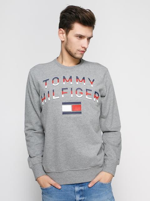 Світшот сірий з принтом Tommy Hilfiger 4820181