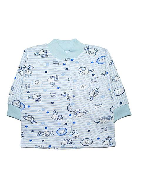 Кофта блакитна з принтом Малыш 4824010