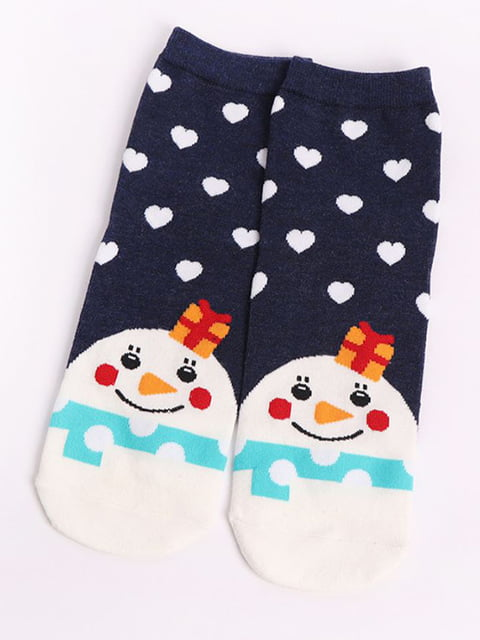Шкарпетки темно-сині з малюнком HEXING 4820840