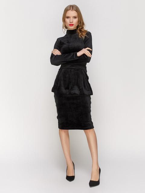 Сукня чорна із знімною баскою CELEBRITY 2959599