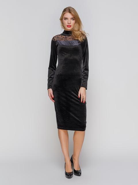 Сукня чорна з мереживом CELEBRITY 2877971