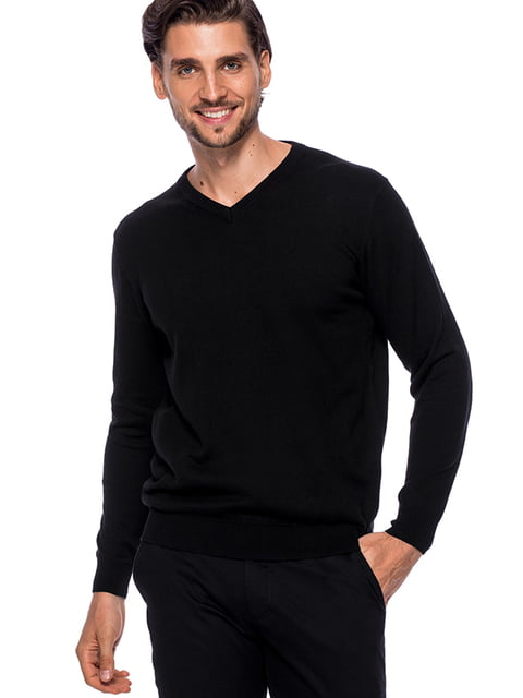 Пуловер чорний PAKO LORENTE 4823036