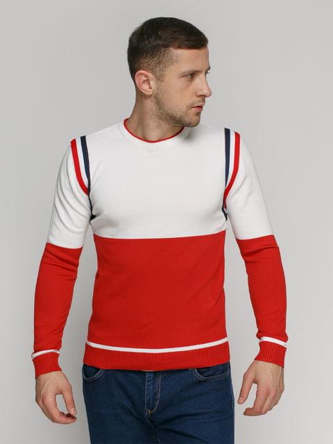 Джемпер червоно-білий PrintOff 4825958