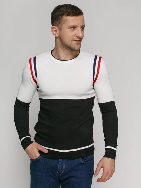 Джемпер чорно-білий PrintOff 4825957