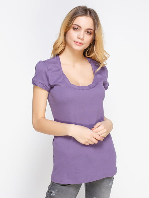 Футболка фіолетова Sisley 2207678