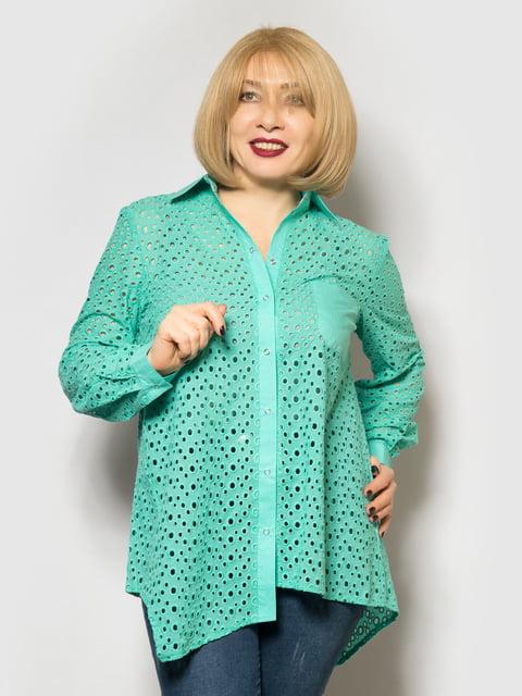 Рубашка бирюзовая LibeAmore 4827352
