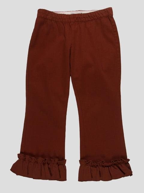 Брюки коричневые Mi mi sol 4825933