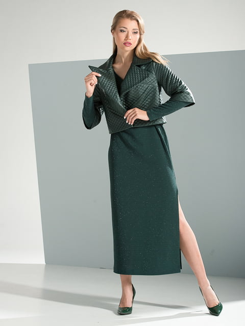 Платье изумрудного цвета Lesya 4437786