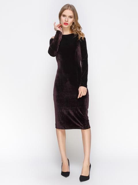 Сукня кольору баклажан велюрова Atelier private 2832703