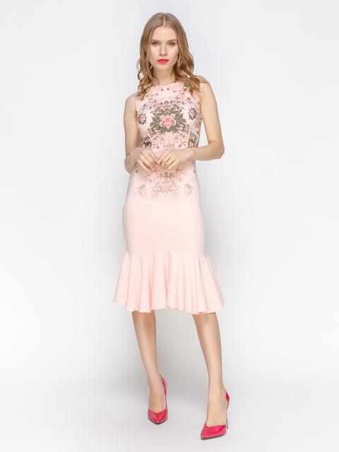Сукня рожева з квітковим принтом Atelier private 3155123