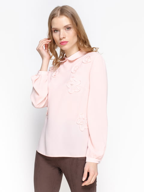 Блуза персикового кольору Atelier private 2981627