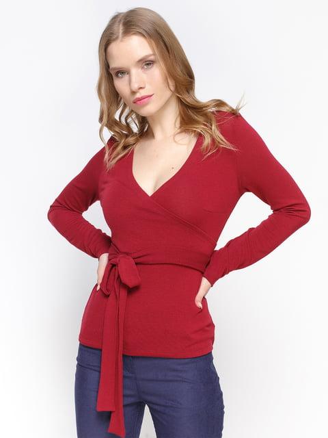 Пуловер кольору марсала Atelier private 2981672