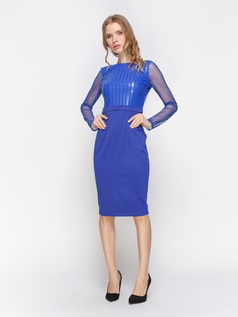 Сукня кольору електрик Atelier private 2757709