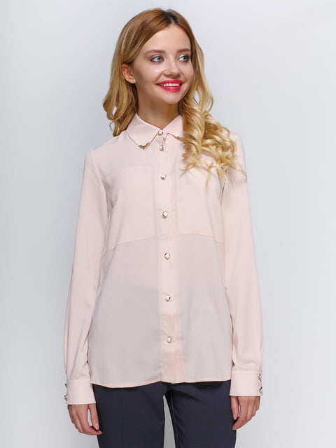 Блуза персикового кольору Atelier private 2981621