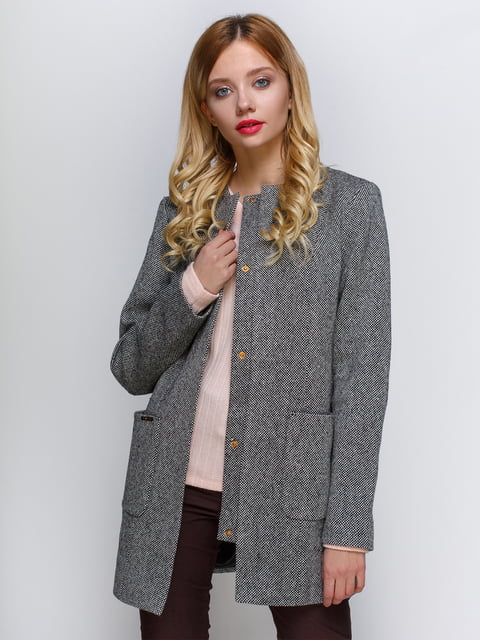 Пальто чорно-сіре Atelier private 2127873