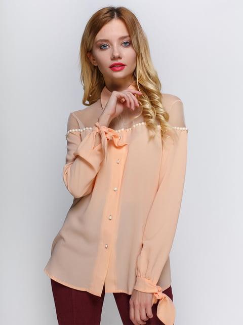 Блуза персикового кольору Atelier private 2981630