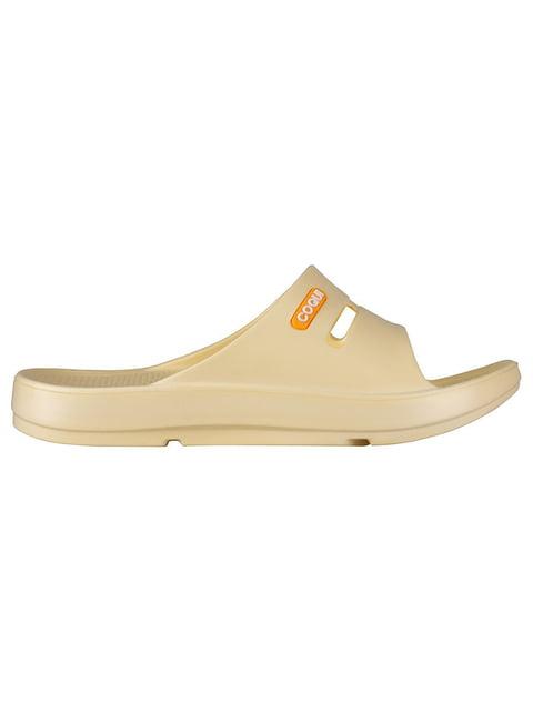 Шльопанці жовті Coqui 4840775