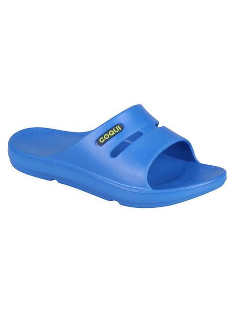 Шльопанці сині Coqui 4840778