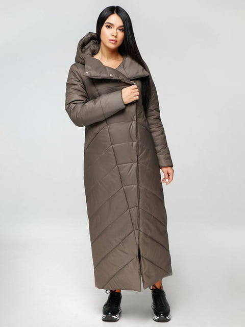 Пальто тьмяно-сіре Favoritti 4689132