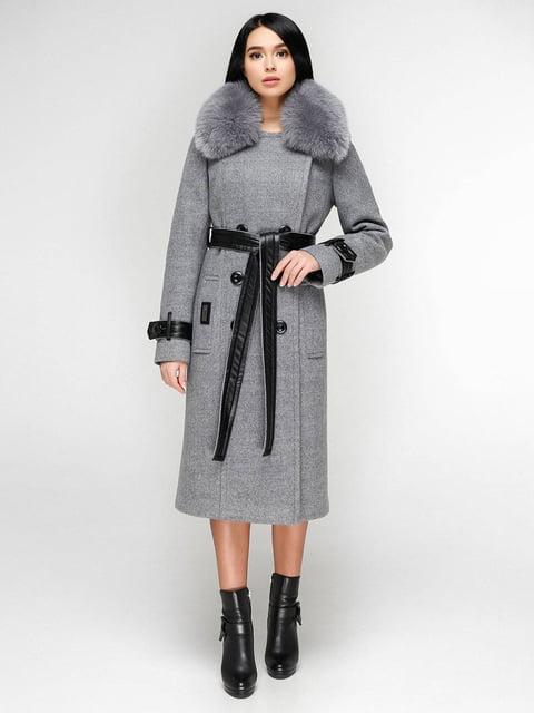Пальто серое Favoritti 4828126
