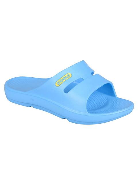 Шльопанці блакитні Coqui 4840773