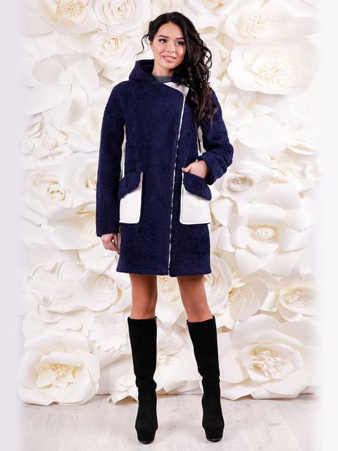 Пальто темно-синє Favoritti 4655254