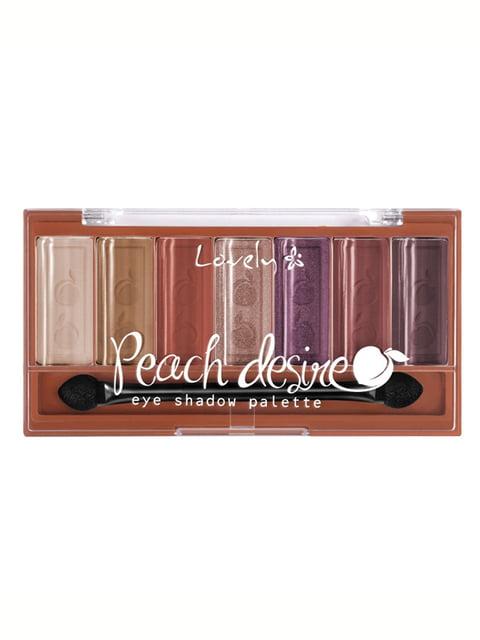 Палетка тіней для повік Palette Peach desire (6 г) Lovely 4841406