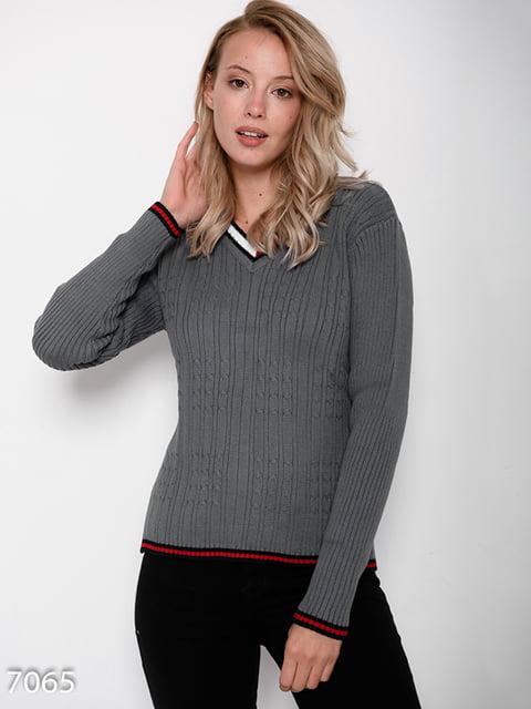 Пуловер сірий Magnet 4621195
