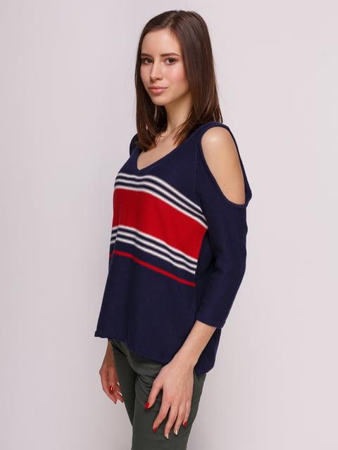 Пуловер синій в смужку Springfield 3966600