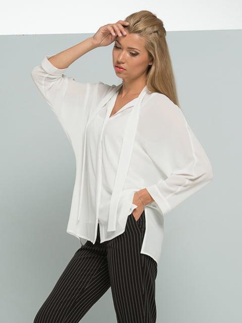 Блуза молочного кольору Lesya 4836816