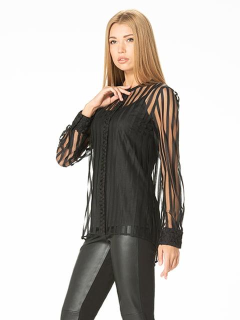 Блуза черная Lesya 4836820