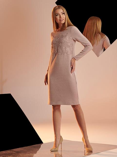 Платье цвета пудры Lesya 4836855