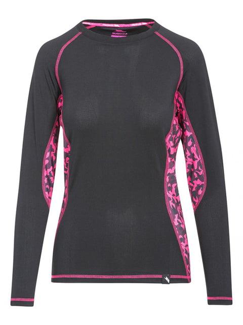 Термоджемпер черно-розовый с принтом Trespass 4630379