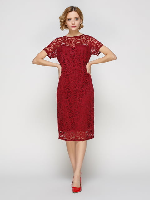 Сукня кольору марсала My Monday 3544651