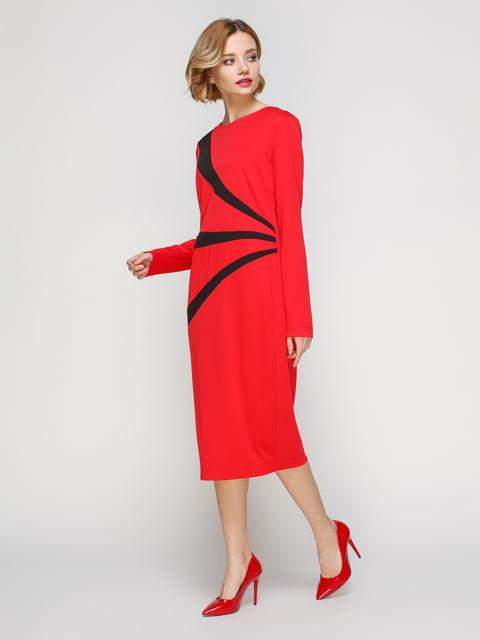 Платье красное с черными вставками My Monday 3045656