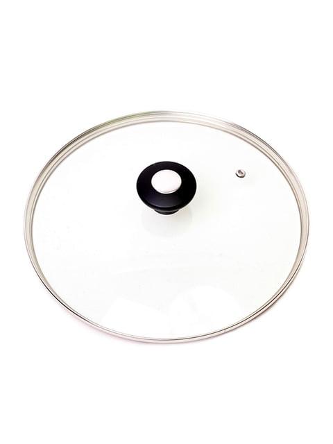 Кришка скляна з металевим обідком (28 см) Trendy 4861280