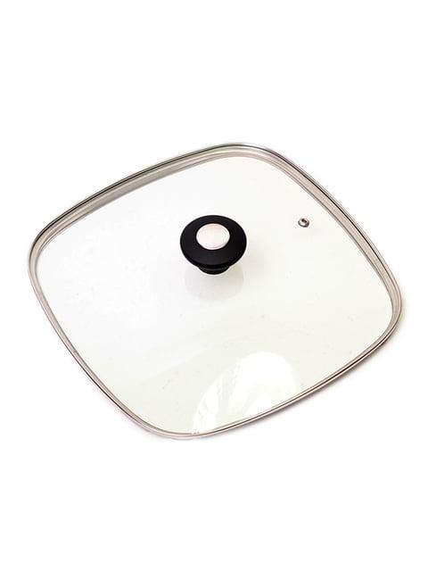 Кришка скляна з металевим обідком (28 см) Trendy 4861282