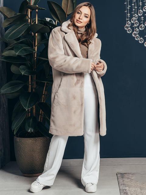 Шуба перлового кольору Grand Furs 4861299