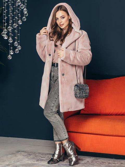 Шуба кольору пудри Grand Furs 4861313