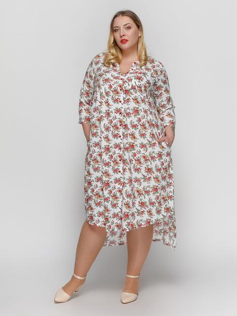 Платье белое в цветочный принт RUTA-S 4855829