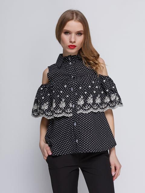 Блуза чорна My Monday 3352776