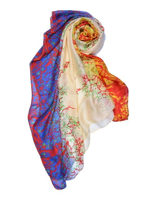 Палантин разноцветный в принт Fashion Look 4863466